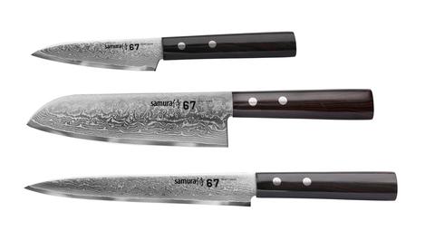 Набор из трех кухонных ножей  Samura 67 Damascus