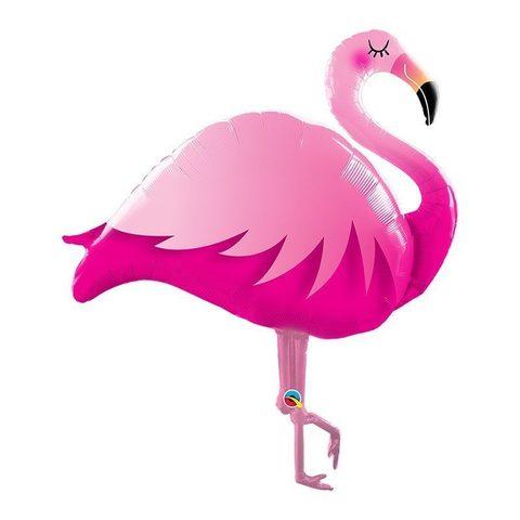 Воздушный шар фигура Розовый Фламинго, спящий, 117 см