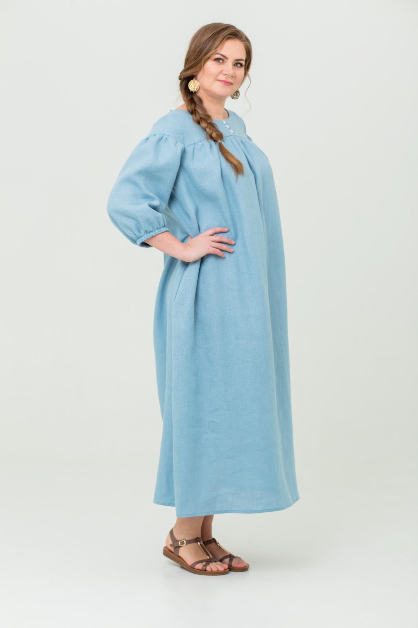 Платье льняное Босиком по росе русское народное