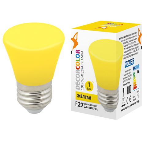 LED-D45-1W/YELLOW/E27/FR/С BELL Лампа декоративная светодиодная. Форма