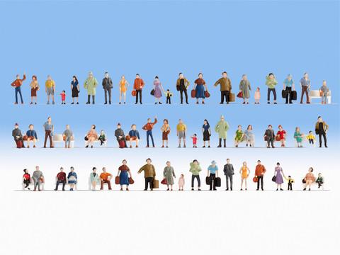 Большой набор человечков (60 фигурок без скамеек)