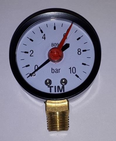 Манометр радиальный TIM