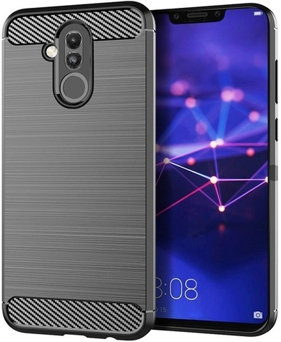 Чехол Huawei Mate 20 Lite цвет Gray (серый), серия Carbon, Caseport