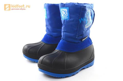 Зимние сапоги для мальчиков непромокаемые с резиновой галошей Фиксики, цвет синий, Water Resistant. Изображение 6 из 17.