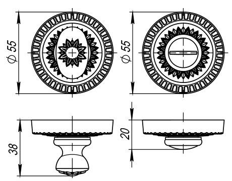 Ручка поворотная WC-BOLT