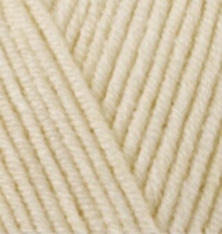 Пряжа Lanacoton Alize 01 кремовый, фото