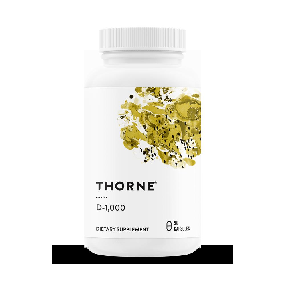 Thorne Research, Витамин D-1000, 90 капсул