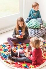 Коврик-мешок для игрушек (2 в 1) Play&Go Print СИНИЙ ЗИГЗАГ 79961 1