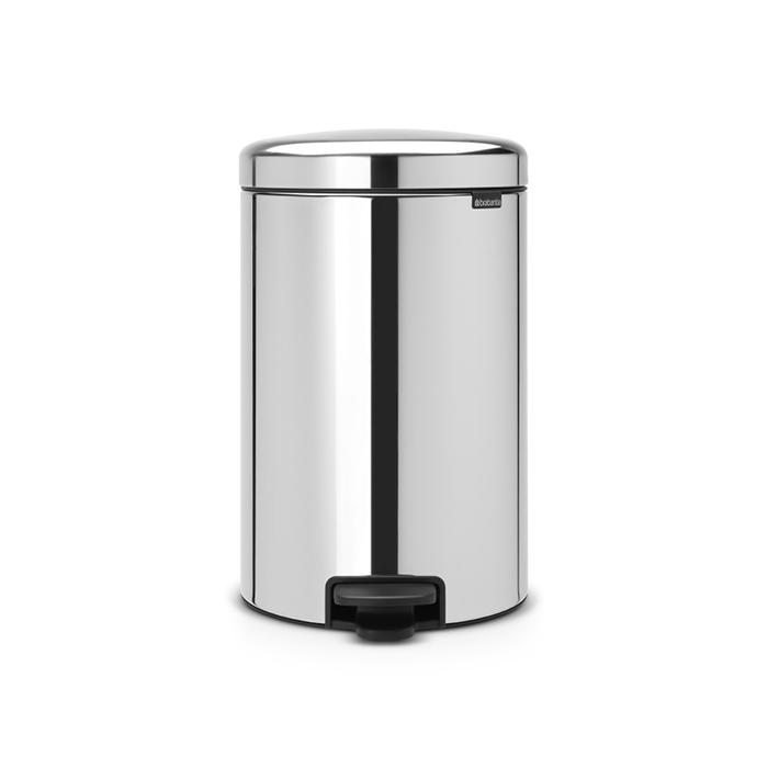 Мусорный бак newicon (20 л), металлическое внутреннее ведро, Стальной полированный, арт. 114267 - фото 1