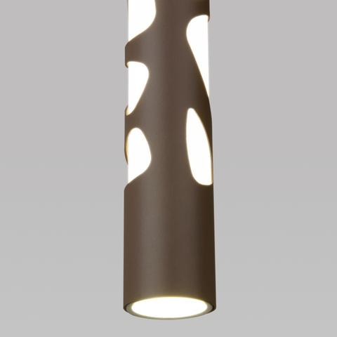 Подвесной светодиодный светильник DLR037 12W 4200K кофейный