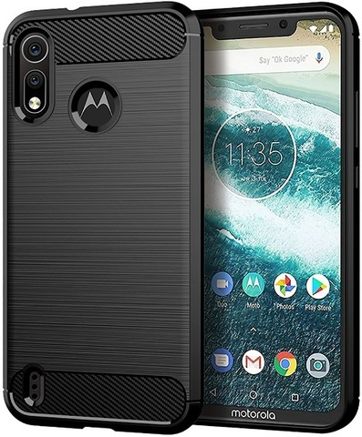 Чехол Motorola Moto One Power 2 (P40 Play) цвет Black (черный), серия Carbon, Caseport