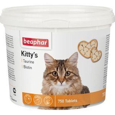 12597 Беафар Витамин Китти Таурин/биотин д/кошек 750таб.*6