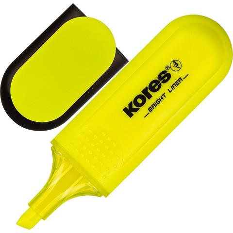 Текстовыделитель Kores желтый (толщина линии 1-5 мм)