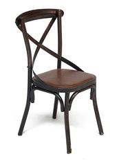 Стул металлический Кросс (Cross Chair) Коричневый