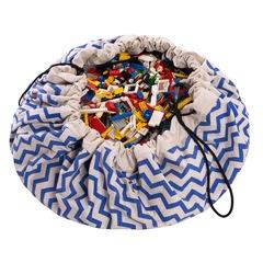 Коврик-мешок для игрушек (2 в 1) Play&Go Print СИНИЙ ЗИГЗАГ 79961