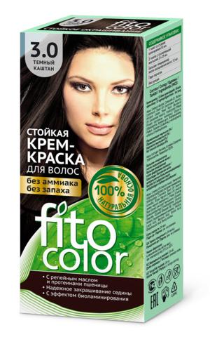 Фитокосметик Fito Color Стойкая крем-краска для волос тон Темный каштан 115мл