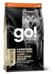 Корм беззерновой для собак всех возрастов, GO! Natural holistic, CARNIVORE GF Lamb + Wild Boar Recipe DF, с ягненком и мясом дикого кабана