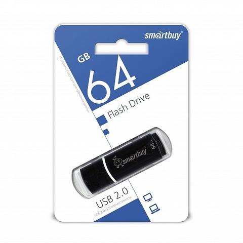 64GB USB-флеш накопитель CROWN SMARTBUY черный