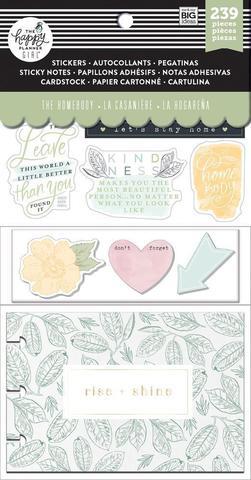 Набор стикерблоков и стекеров Happy Planner Note Cards/Sticky Note Multi Pack - Homebody, 239 шт.