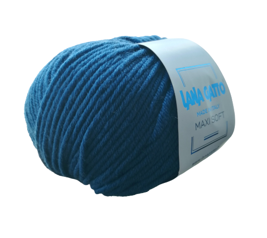 Пряжа Lana Gatto Maxi Soft 8957 петроль