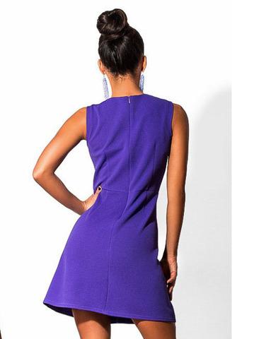 Короткое летнее платье с принтом, фиолетовое 1