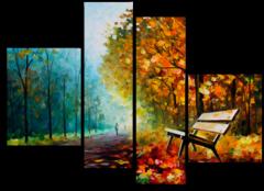 """Модульная картина """"Осенний парк"""""""