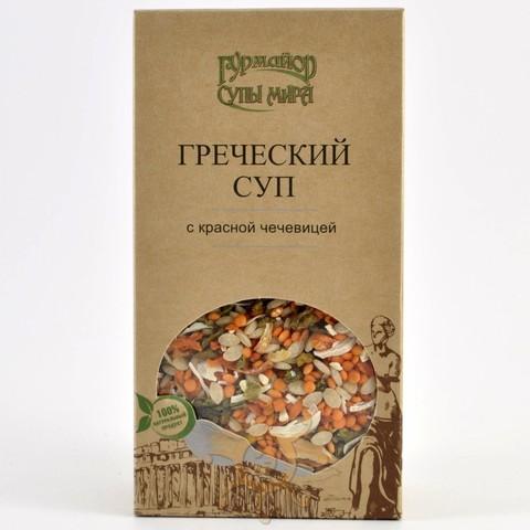 Греческий суп с красной чечевицей Гурмайор, 210г
