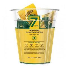 May Island 7Days Secret Pore Clear Powder Scrub - Скраб для лица кислотный очищающий