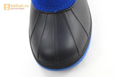 Зимние сапоги для мальчиков непромокаемые с резиновой галошей Фиксики, цвет синий, Water Resistant. Изображение 11 из 17.