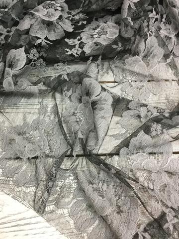 Кружевное полотно Sophie Hallette - Anthracite/Argent