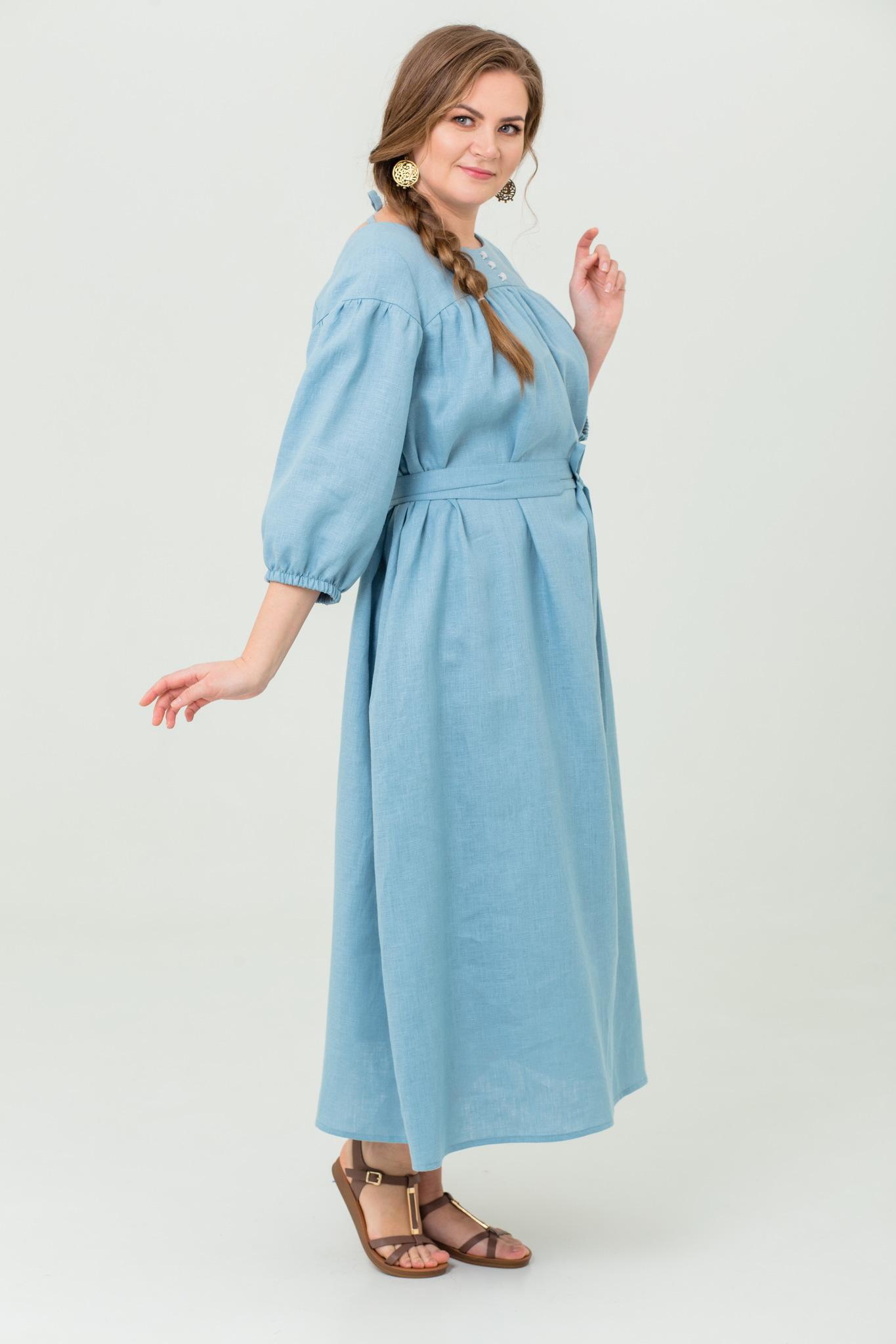 Платье льняное Босиком по росе купить