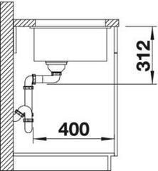 Мойка Blanco Subline 500-U схема