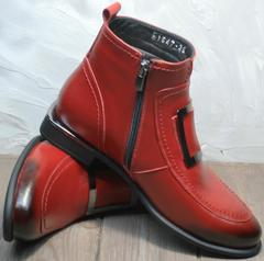Осенне весенние ботинки женские красные Evromoda 1481547 S.A.-Red