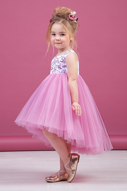 Платье розовое для девочки 38-9010-5
