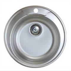 Мойка КромРус ЕС-246 для кухни из нержавеющей стали, универсальная