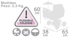 DeCuevas Коляска с сумкой и зонтиком