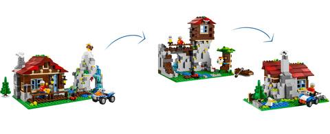 LEGO Creator: Домик в горах 31025 — Mountain Hut — Лего Креатор Создатель