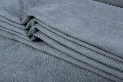 Штора готовая однотонная из портьерной ткани | цвет: голубовато-синий