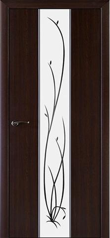 Дверь Галант (белое зеркало) (тёмный орех, зеркало ПВХ), фабрика ДверноВ