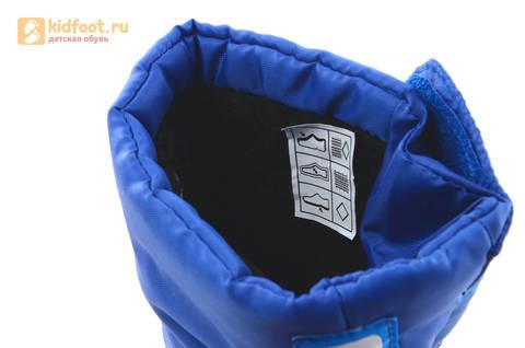 Зимние сапоги для мальчиков непромокаемые с резиновой галошей Фиксики, цвет синий, Water Resistant. Изображение 17 из 17.