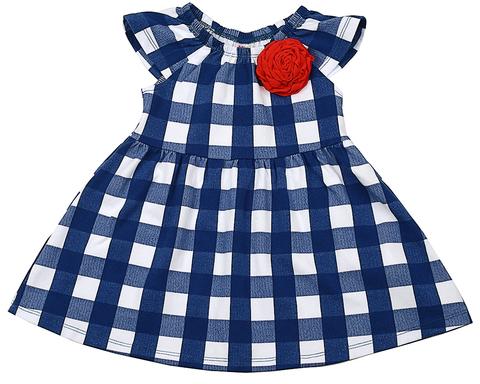 Платье в клеточку с розой Mini-Maxi (арт.UD3189(2))