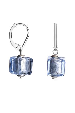 Серьги Perla Piccolo Cubo сине-голубые