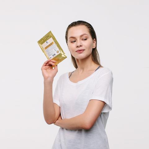 Альгинатная омолаживающая маска с коллоидным золотом для любых типов кожи