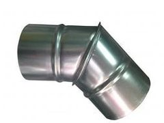 Отвод (угол/колено) 45 градусов D 200 мм оцинкованная сталь