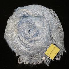 Пуховый палантин светло-голубой 47