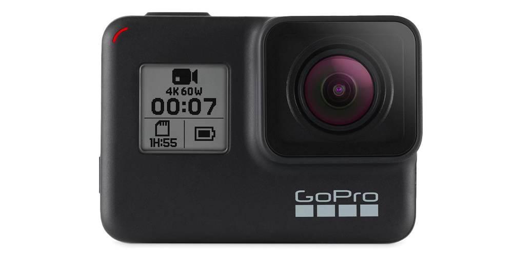 Видеокамера GoPro HERO7 Black Edition + SD Card (CHDSB-701) вид спереди