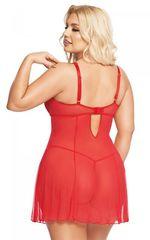 Прозрачная сорочка Berta (BS) красная