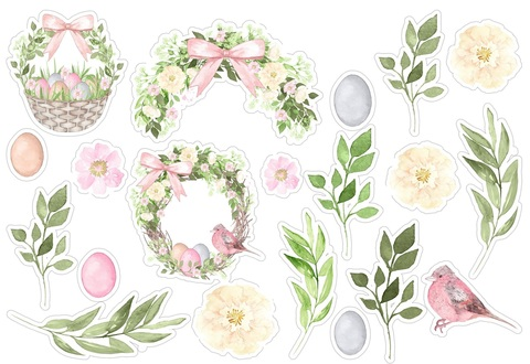Печать на вафельной бумаге, Набор цветы 12