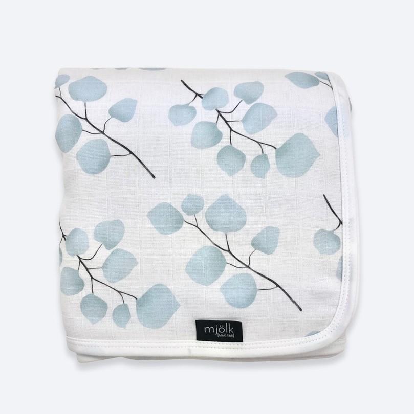 Муслиновое утеплённое одеяло Mjölk Голубой эвкалипт