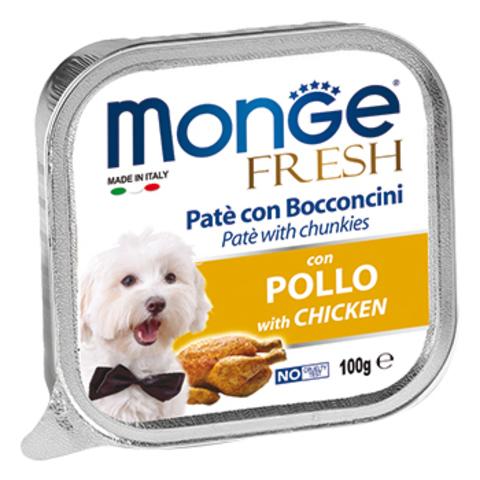 Monge Dog Fresh консервы для собак (курица) 100г